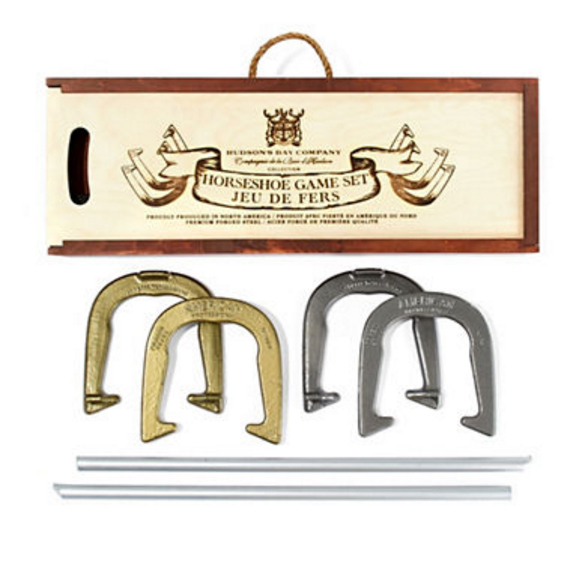 Hudson's Bay Company horseshoe game set, $110, thebay.com