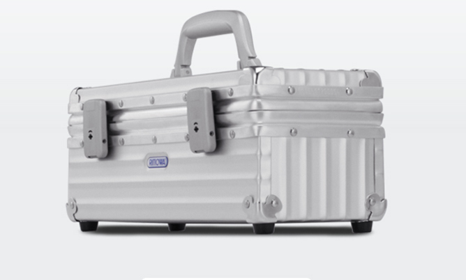 Rimowa Champagne Carrier, $550, rimowa.com. 