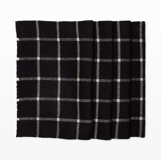 Club Monaco Windowpane Scarf, $98.50, clubmonaco.ca. 