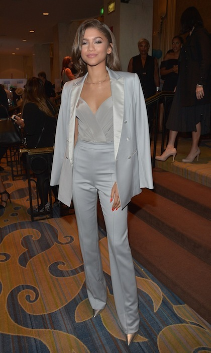 Zendaya was a vision in grey at the 2015 Bill of Rights Dinner hosted by ACLU SoCal.