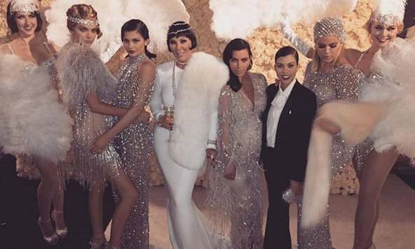 The Kardashian-Jenner clan.
