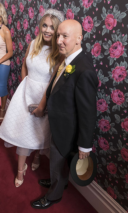Princess Diana's niece, Lady Kitty Spencer, wowed crowds at the Melbourne Cup in Australia. Here, she poses with leading British milliner Stephen Jones. 