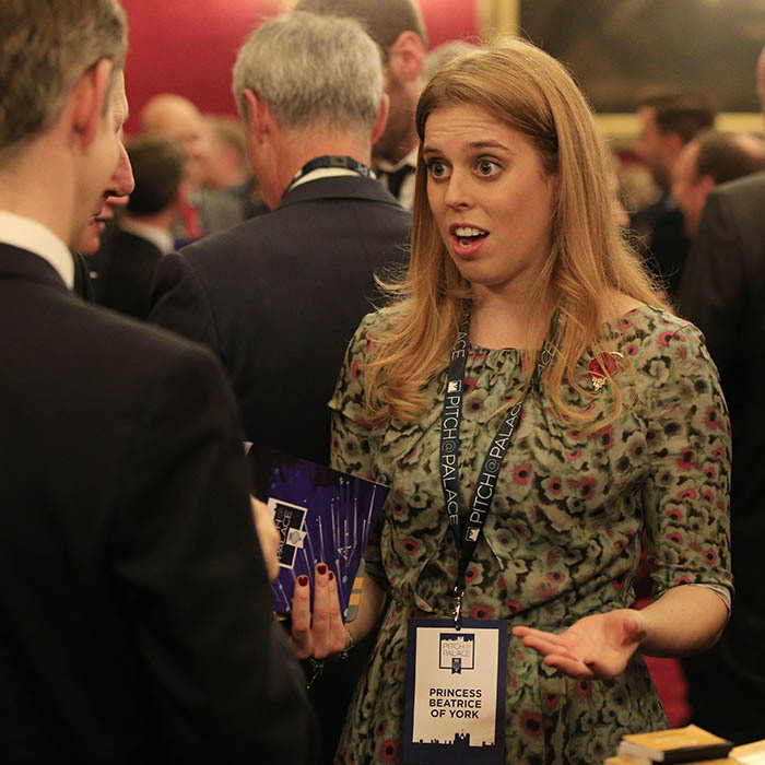 Princess Beatrice mingled with guests during the Pitch@Palace entrepreneurial event inside St. James's Palace on Nov. 2. 