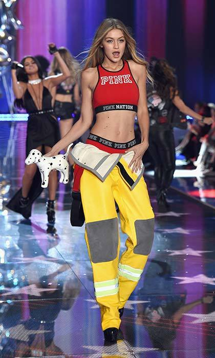 Gigi Hadid gave fighting fires a glamorous spin.