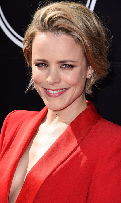 With windswept blond locks, Rachel McAdams arrives at the 2015 ESPYS in California. 