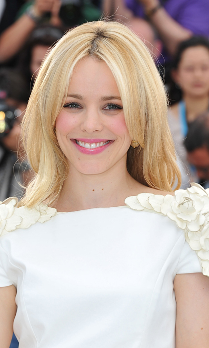 Blonds do have more fun. Rachel attends a <em>Midnight In Paris</em> photo call during the 2011 Cannes Film Festival in France.