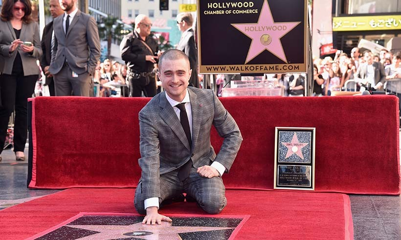 <em>Harry Potter</em> star Daniel Radcliffe has a magical moment in Hollywood as he unveils his star on the Walk of Fame.