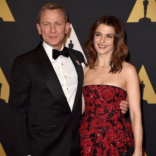 While fans of James Bond raced to the theatre to see <em>Spectre</em> over the weekend, leading man Daniel Craig was busy fulfilling his mission to escort his Oscar de la Renta-clad wife, Rachel Weisz, to the Governors Awards in Los Angeles.  