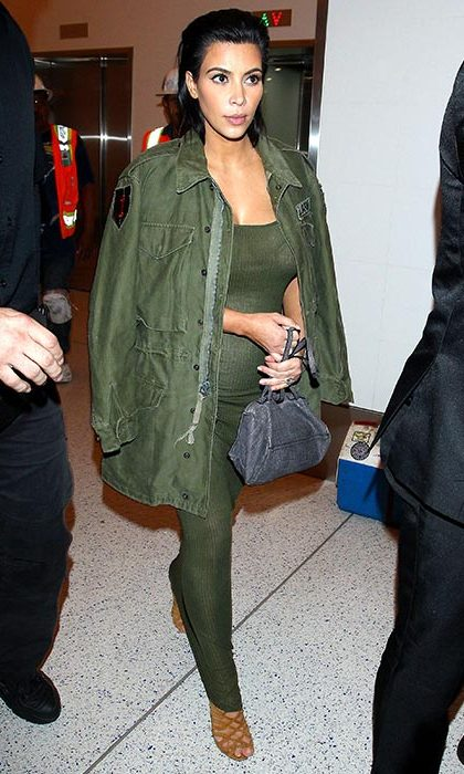 High fashion all in khaki at LAX