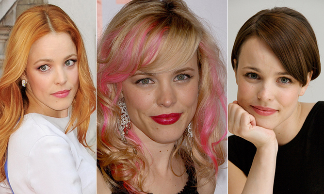 From the perfectly straight platinum-blond hair of <em>Mean Girls</em>'s Regina George to the roughly chopped bob of <em>True Detective</em>'s Ani Bezzerides and the dark curly locks of Claire Cleary in <em>Wedding Crashers</em>, Rachel McAdams has sported countless 'dos over the course of her 14-year career.
