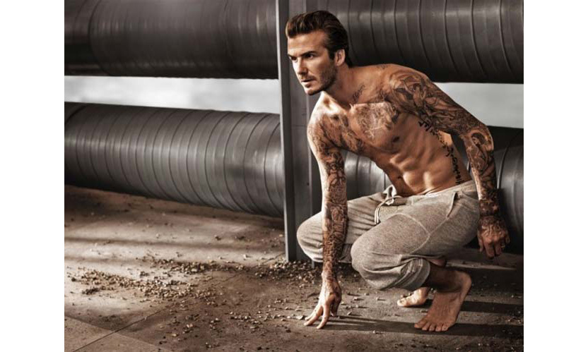 David has shown off his toned torso in a number of topless H&M campaigns.