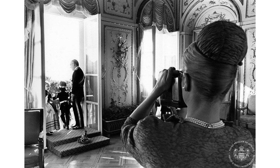 Princess Grace captures her family in a candid photo during the 1962 National Day.