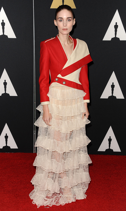 <p>The odds are ever in Rooney Mara's favour when she steps out in this structured Alexander Mcqueen gown.</p>