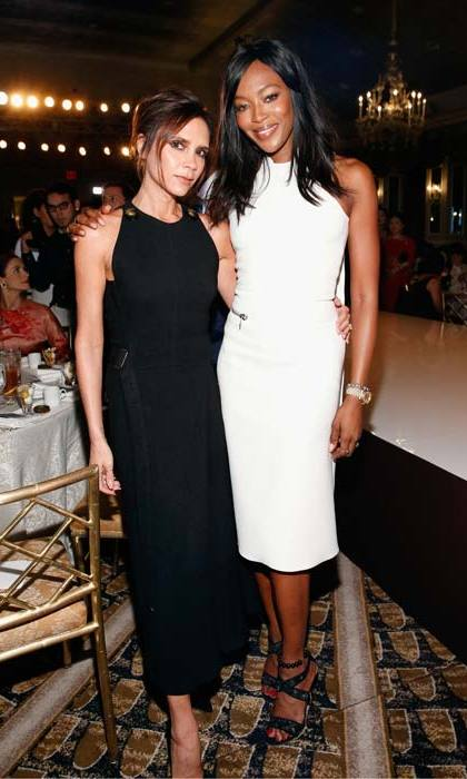 Supermodel <strong>Naomi Campbell</strong> is also fond of Victoria's designs; spotted here with the designer in September of this year.
