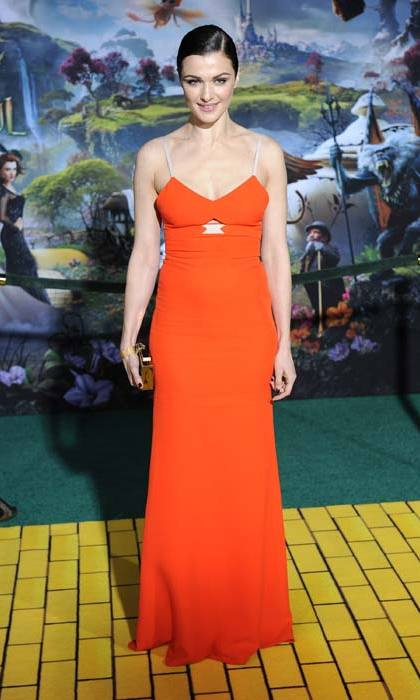 Tangerine has been one of Victoria's most successful collection colours to date. <strong>Rachel Weisz</strong> is seen modelling the hue here in 2013.
