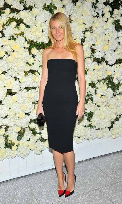 <strong>Gwyneth Paltrow</strong> was the epitome of chic in Victoria's stunning LBD at a party to celebrate the designer earlier this year.