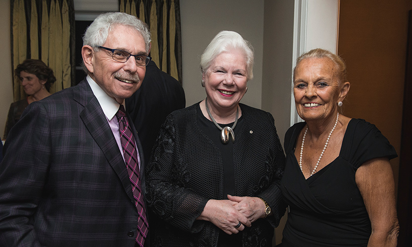Dr. Bernie Gosevitz, Elizabeth Dowdeswell (Lieutenant Governor) and Loretta Rogers<br>