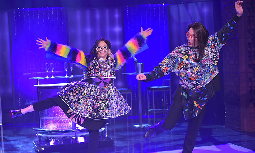 <p>Jennifer Lawrence busts a move with Jimmy Fallon during a visit to <em>The Tonight Show.</em> </p>