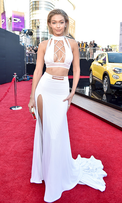 <p>Gigi Hadid in Bao Tranchi.</p>