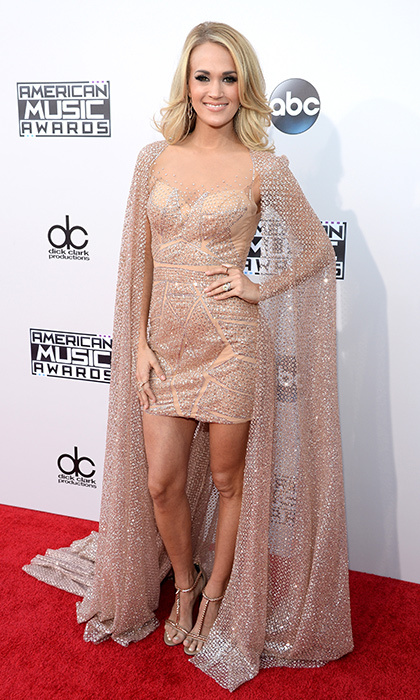 <p>Carrie Underwood in Yas Couture.</p> 