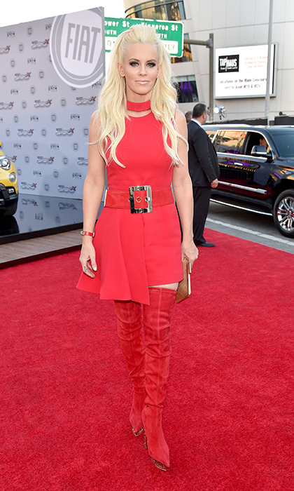 <p>Jenny McCarthy in Versace.</p>