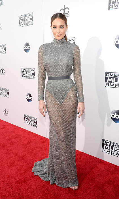 <p>Hannah Davis in Naeem Khan.</p>