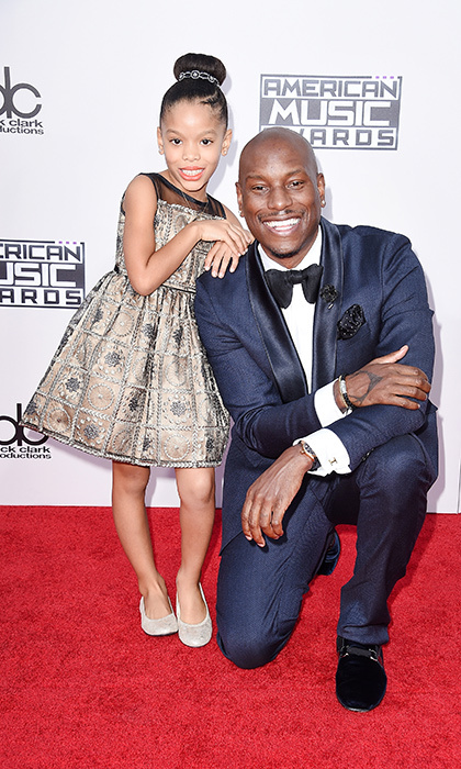 <p>Shayla Somer Gibson with dad Tyrese Gibson.</p> 
