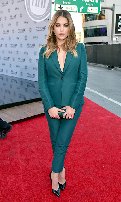 <p>Ashley Benson in Max Azria Atelier.</p> 