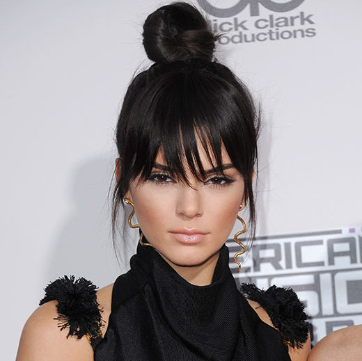 <p>If you're thinking of trying a fringe, follow in <b>Kendall Jenner's</b> footsteps with faux bangs – the young model rocked the look by sweeping her hair up into a top knot and bringing some strands to the front for a sleek finish.</p>