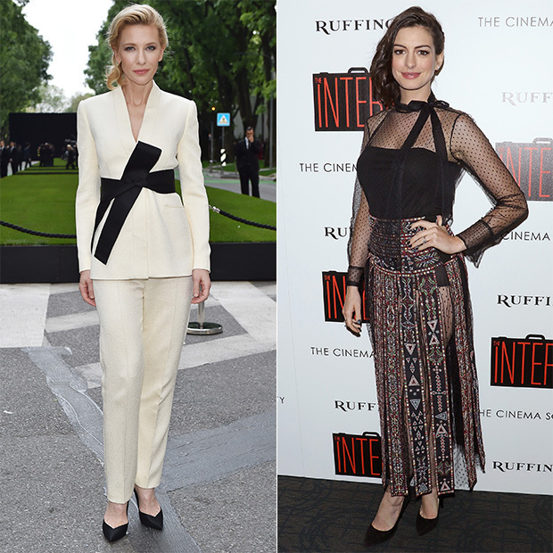 Get The Look: Cate Blanchett And Anne Hathaway Wrap It Up