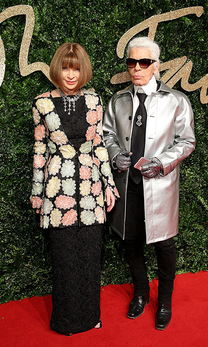 <p>Anna Wintour and Karl Lagerfeld</p>