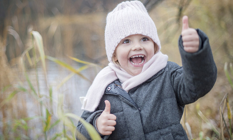 <p>Princess Estelle delighted fans in a new series of fall portraits, which showed the adorable (and bundled-up!) four-year-old giving two thumbs up by a pond in the park outside Haga castle.</p>
