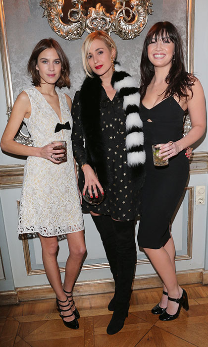 <p>Alexa Chung, Princess Elizabeth von Thurn und Taxis and Daisy Lowe scored style points at a dinner to celebrate the mytheresa.com collaboration with Sergio Rossi in Regensburg, Germany, on Nov. 19.</p>
