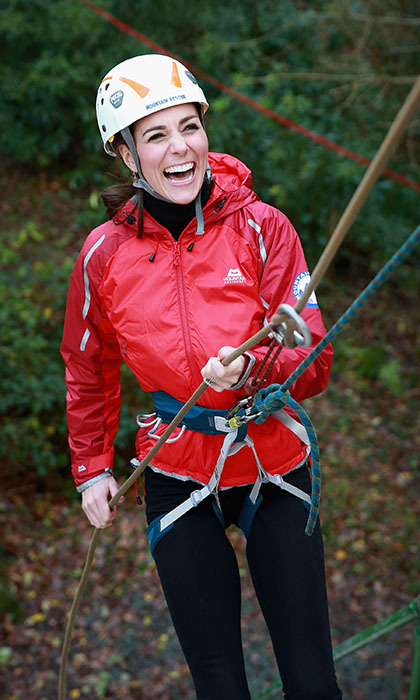 <p>The Duchess of Cambridge showed her daring side in Wales while trying abseiling at the Towers Residential Outdoor Education Centre. Kate and Prince William spent some time in their old stomping grounds in a series of engagements related to children and mental health.</p>