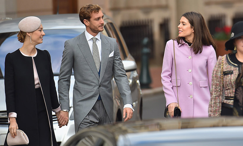 <p>Beatrice Borromeo, Pierre Casiraghi and Charlotte Casiraghi had a chat while strolling to mass at the Cathedral of Monaco on Nov. 19 to celebrate the principality's National Day.</p>