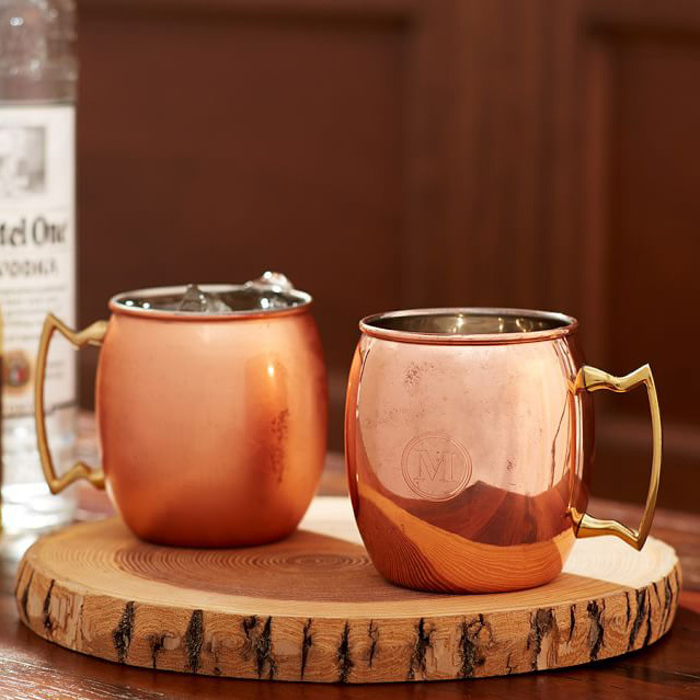 "<p>Pottery Barn Copper Moscow Mule Mug Set, $35.50, <a href=""http://www.potterybarn.com/products/moscow-mule-mug/"" target=""_blank"">potterybarn.com</a>.</p>"