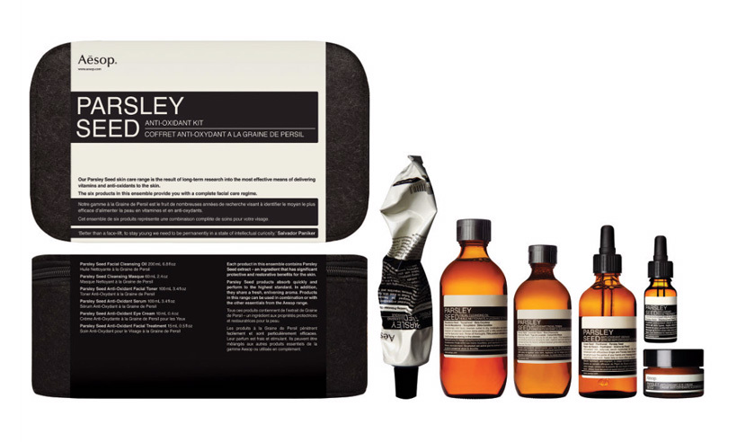 "<p>Aesop Parsley Seed Anti-Oxidant Kit, $391, <a href=""http://www.holtrenfrew.com/store/holt/ProductDetail/Parsley-Seed-Anti-Oxidant-Kit/_/A-sku-sku21112.prod40745.en__US.HOLT?pdp=true"" target=""_blank"">holtrenfrew.com</a>.</p>"