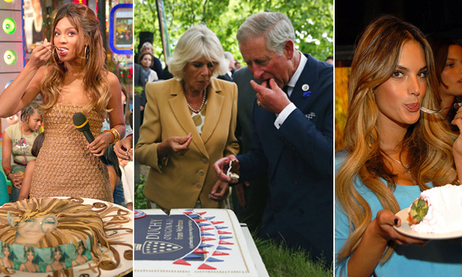 When it comes to cake, stars are just like us - they can't get enough! From chocolate to vanilla and everything in between, the sweet treat is a must-have at Hollywood celebrations, birthdays and as a reward for a job well done. Here are 10 celebs who love a slice of the irresistible confection.