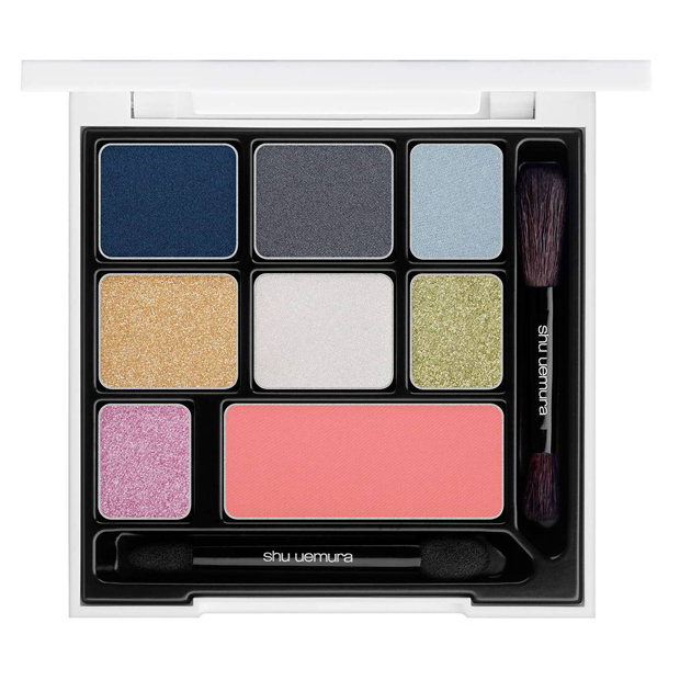 <p>Paris meets Tokyo in this funky palette for the lady who loves to experiment. Pair a perfectly coral cheek with subtle grey and navy eyes for an office do or amp up the glamour with glittering green and pink shadow to paint the town a fierce shade of holiday red.</p>