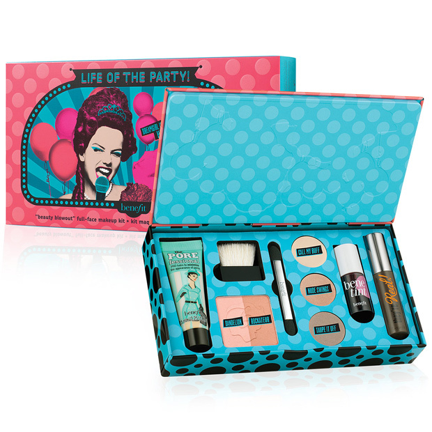 <p>In addition to cult favourites like cheek and lip stain BeneTint and mascara They're Real, Benefit's little box of goodies includes a POREfessional primer to lend your holiday look staying power. Add a swipe of Dandelion or Rockateur on the cheeks to illuminate or bronze and lift eyes with long-wearing shadow in three complementary hues. Party perfect!</p>