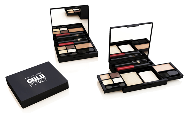 <p>The brand's first all-in-one for the festive season comes in two party-worthy palettes. The rosey Up In Smoke blends a smoky eye with flushed cheeks and a pink pout while Gilded In Gold will have you bronzed and beautiful with a striking red lip.</p>