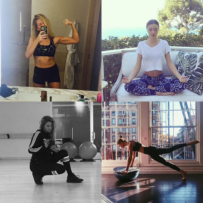 If you have trouble staying motivated in your fitness routine, we've got ample inspiration from some of our favourite stars. Check out these A-list Instagram snaps and we're sure you'll be reaching for your gym bag.
