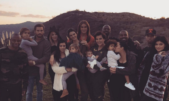 "The Kardashian-Jenner family sure know how to do a big family Thanksgiving! Kim Kardashian said she was so ""THANKFUL"" for all of them.