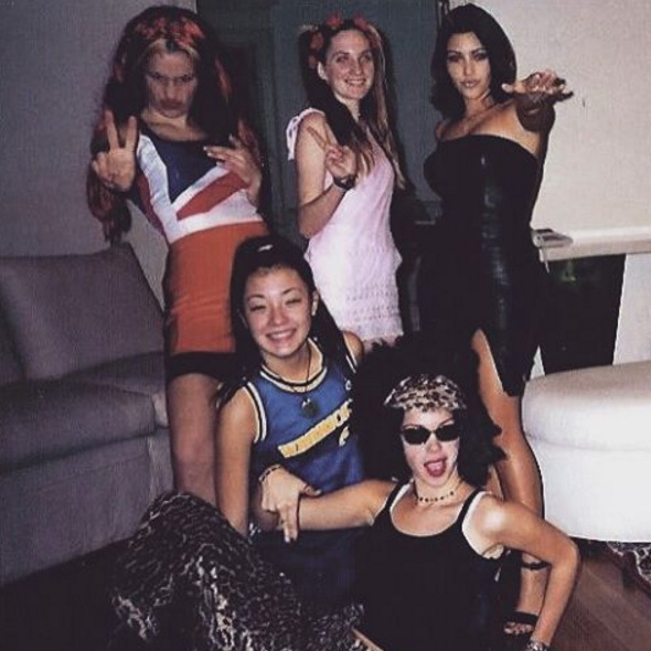 "Love this! Kim Kardashian used this great #TBT pic to express what else she was thankful for this year. ""I'm so Thankful that me & my friends were the Spice Girls for our high school talent show! The Spice Girls got me through a lot! #ForeverThankful""