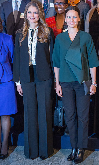 <p>Sofia dazzled in a green Cos asymmetrical blazer at the Global Child Forum in Stockholm.</p>