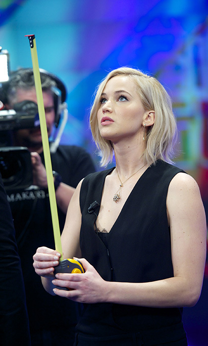 <p> If Jennifer Lawrence is trying to measure her success, she is going to need a longer tape. The star was in great spirits while promoting the final <em>Hunger Games</em> film on the Spanish talk show <em>El Hormiguero</em>.</p>