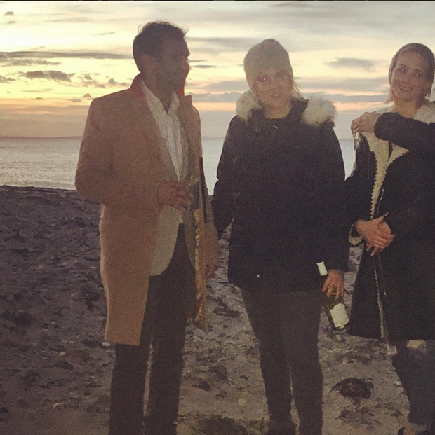 "<p> Amy Schumer dubbed her festivities with Aziz Ansari and Jennifer Lawrence, ""Thanksgiving dreams.""</p>