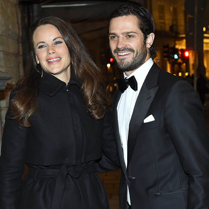 <p> Parents-to-be Prince Carl Philip and Princess Sofia of Sweden attend a dinner to benefit Stockholm's Project Playground charity. </p>