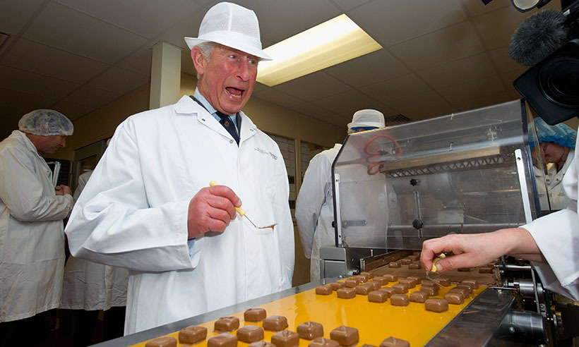 <p> Just call him Prince Chocolatier! Charles puts his artistic talents to work by decorating sweet treats during a visit to the House of Dorchester chocolate factory in Dorset, England.</p>