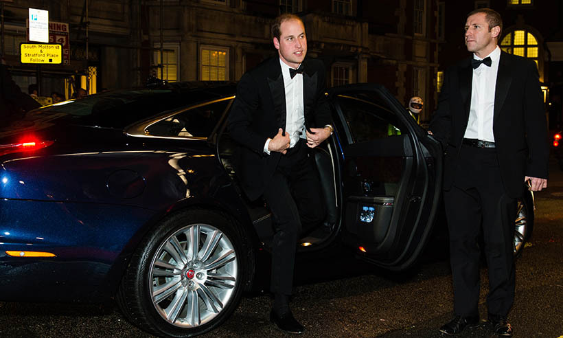 <p> A dapper Prince William arrives at the annual Tusk Trust Conservation Awards at Claridge's Hotel in London. The father of two is the royal patron of the organization, which hopes to build a sustainable future for the people and the wildlife of Africa.</p>